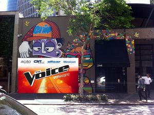 Painel Backdrop - The Voice VM Ware - Skull Bar