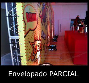 Painel Backdrop com Envelopamento Parcial