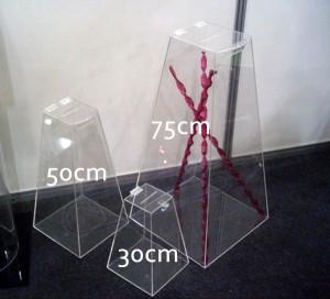 Urnas Piramidal 30cm, 50cm e 75cm