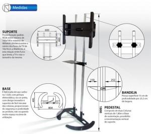 Pedestal Suporte para Monitores de TV 32 à 60 Polegadas