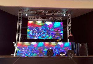 Painel de LED e DJ 3,20 x 1,60 - Parte Inferior 3,20 x 0,80