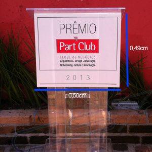 Púlpito de Acrílico - Prêmio Part Club 2013